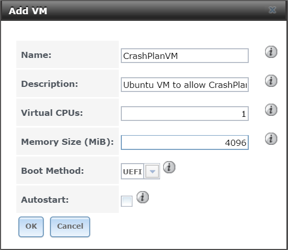 HOW TO] Install CrashPlan in an Ubuntu 16 04 VM on FreeNAS v11