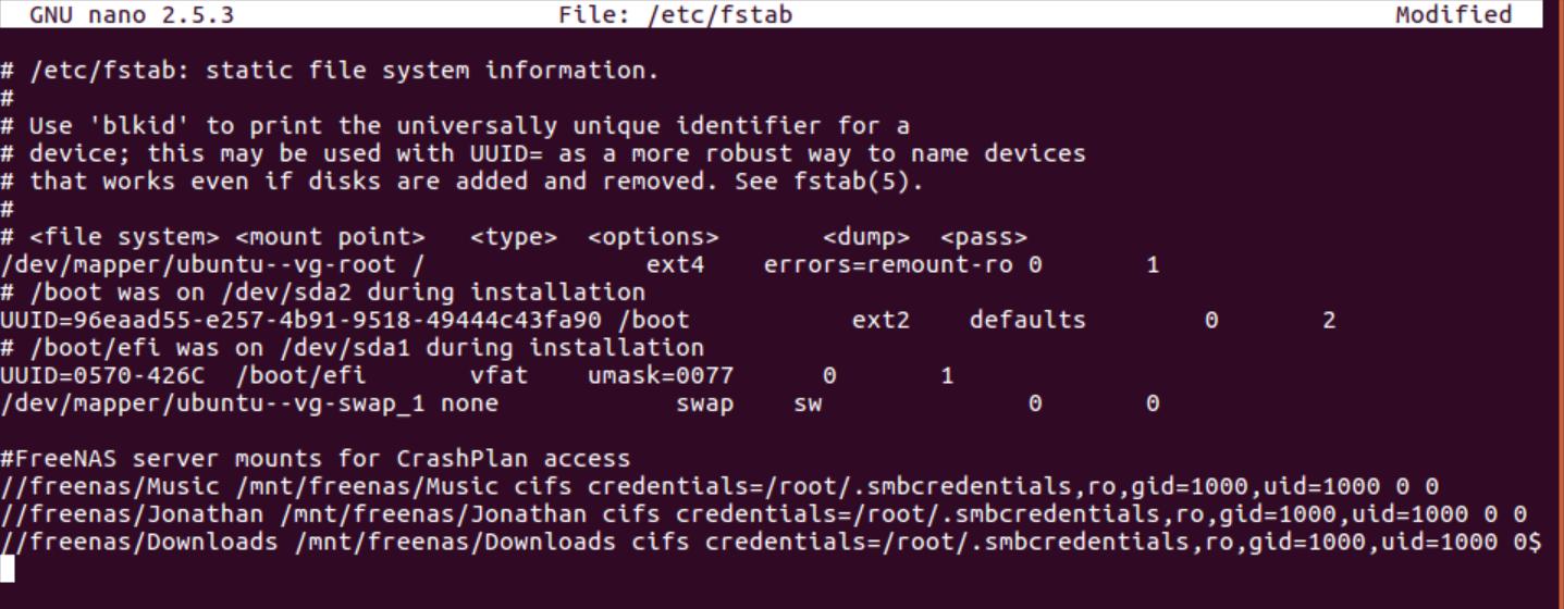 HOW TO] Install CrashPlan in an Ubuntu 16 04 VM on FreeNAS v11